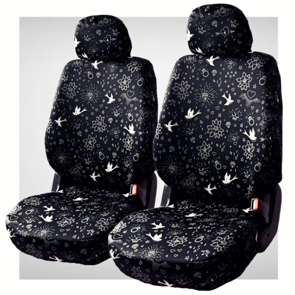 Pokrowce samochodowe - komplet black swallow