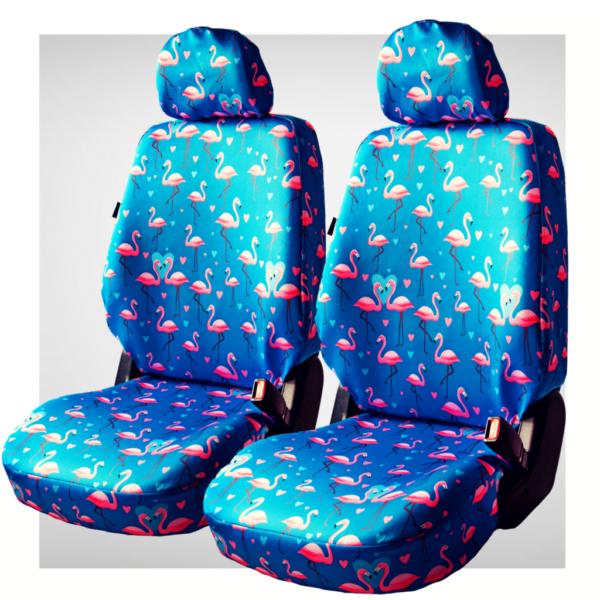 Pokrowce samochodowe - komplet blue flamingo