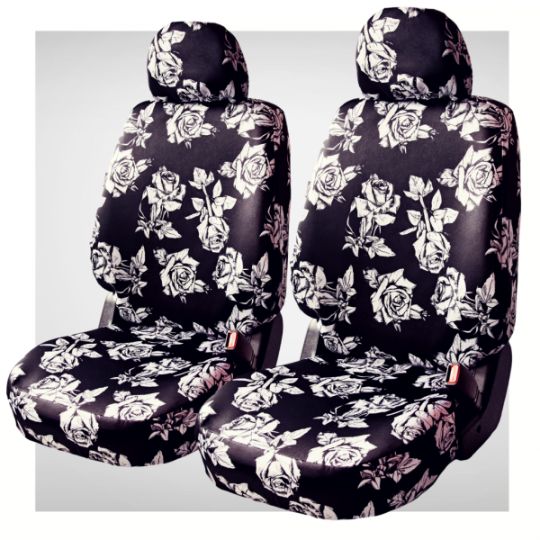 Pokrowce samochodowe - komplet black rose